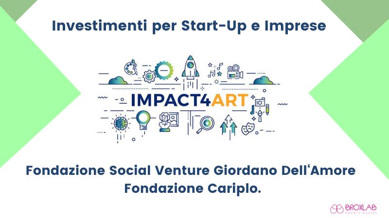 Arte, cultura e Startup. 1MLN/€ per le imprese